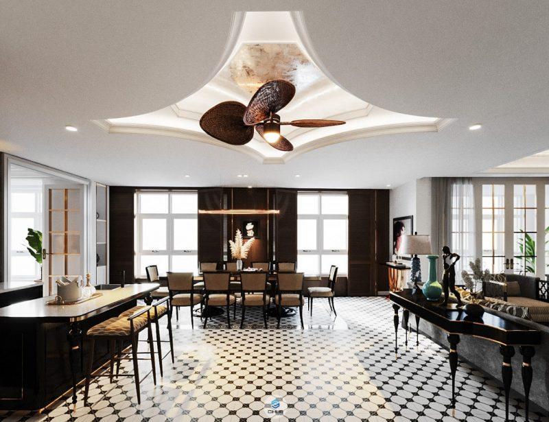 Thiết kế penthouse với không gian ấn tượng
