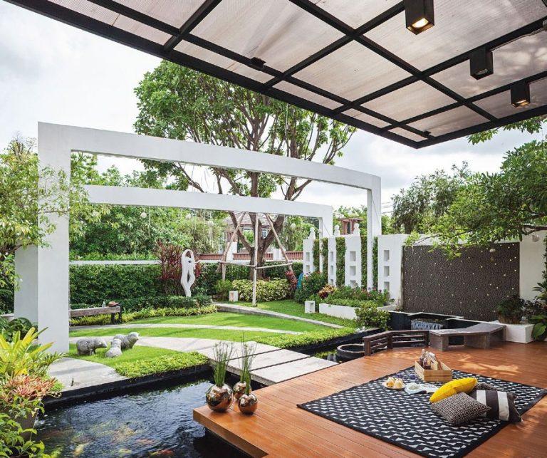 Cần đảm bảo màu sắc hài hòa khi thiết kế vườn biệt thự